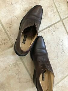 Ann Demeulemeester brown leather shoe boots chunky derby 36-1/6 6-1/2