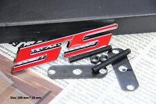 E393 SS 3D Kühlergrill Emblem Badge car Sticker Metall Frontgrill Rot