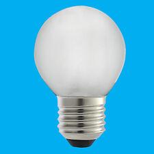 2x 7W Frosted Low Energy Golf Ball Night Light Slumber Bulb E27 Lamp Globe