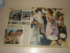 MARIA FELIX clipping ritaglio articolo foto photo=ANNI '50=52