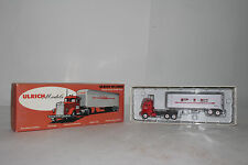 ULRICH HO SCALE #1001 MACK COE HI-LINER PIE TRACTOR TRAILER SEMI TRUCK, BOXED