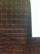 Gp And j Baker Lifestyle Fabric Velvet Marco Check In Chocolate By The Metre