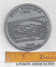 West Virginia Souvenir State Quarter Fridge Magnet   NEW RIVER GORGE