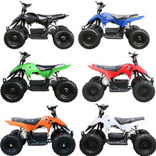 2017 500W 24V 49CC MINI ATV QUAD BIKE KIDS 4 WHEELER DIRT BUGGY POCKET BIKE US