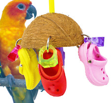 1784 Coco Sandal Bird Toy parrot cage african grey cockatoo Hand Made in The USA