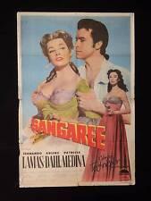 SANGAREE (1953) * FERNANDO LAMAS * ARLENE DAHL * ARGENTINE 1sh MOVIE POSTER