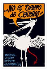 Cuban decor Graphic Design movie Poster for Cuba film.No time for STORK. art