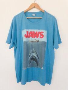 Jaws Movie Blue T shirt Universal Studios Tag Size L/XL