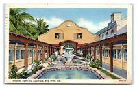 Postcard Tropical Open-Air Aquarium, Key West FL linen 1939 H54
