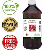 Rosehip Oil - PREMIUM QUALITY Pure & Natural Moisturizer Cold Pressed Seed Face