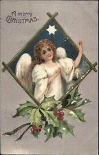 Christmas - Angel Child & Star G-A Series 1363 c1910 Postcard
