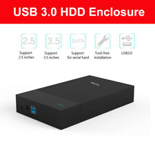 3.5' HDD Enclosure USB 3.0 to SATA External Interface Case Caddy For PC Notebook