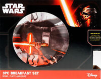 Star Wars Ceramic 3 Piece Bowl Plate And Cup Star Breakfast Set