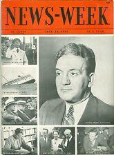 NEWSWEEK  GOEBBELS FDR PECORA AKRON HEARING WAR  JUNE 10 1933