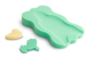 Baby Bath Support Foam - Sponge MIDI + 2 sponge toys Green