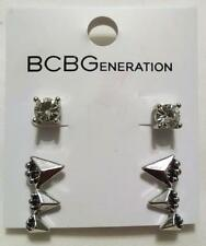 NEW BCBGeneration BCBG Silver Gold Rhinestone Stud Earring Set Orig 25