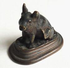 Cochon Statuette petite statue en bronze Fin du 19e siècle pig