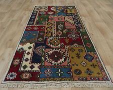 Indo Kazak Multi Coloured Tribal Handmade Knotted Wool Rugs 90x166cm Warrington