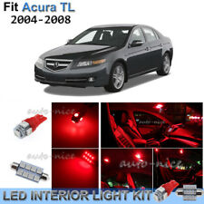 For 2004-2008 Acura TL Brilliant Red Interior LED Lights Kit 12 Pieces