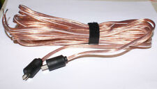 Bang  Olufsen Type Speaker Cables 2Pin DIN Male 20ft pr Read NEW!