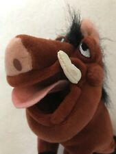 "RETIRED The Disney Store Mini Bean Bag PUMBAA 8"" Lion King Beanie Plush Toy NWT"