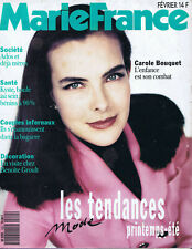 ▬►MARIE FRANCE 420 (1991) CAROLE BOUQUET_SALVADOR DALI__MODE FASHION CHANEL