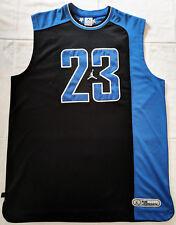 Canotta Jordan #23, nera e blu, taglia XL