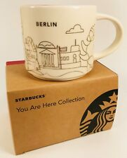 2017 Starbucks Berlin Mug YAH Christmas Gold Cup Holiday You Are Here Red Box