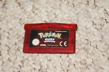 Pokemon Ruby Gameboy Advance 100% Genuine Cart PAL UK retro gaming.