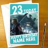 FINAL FANTASY VII Personalised Birthday Card - 7 ff7 remake personalized cloud