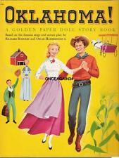 Vintage Uncut 1956 Oklahoma! Paper Dolls~Rodgers & Hammerstein~#1 Reproduction!