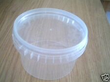 20 x Clear Plastic Tamper Proof Tub and Lid