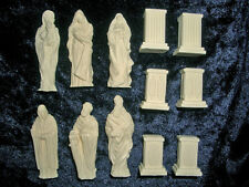 6 Tabletop Statuen + Sockel aus Resin z.B. f. Dwarven forge D&D Hero Quest neu