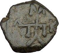 Manuel I , Comnenus  w labarum 1143AD Ancient Byzantine Coin Monogram 58  i38285