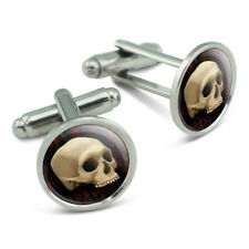 Gothic Human Skull Men's Cufflinks Cuff Links Set