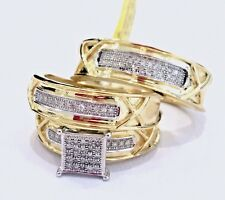 Yellow Gold 10k Engagement Wedding Ring Sets eBay