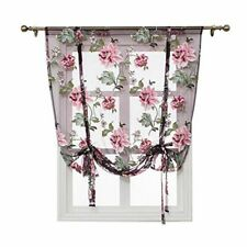 Floral Curtains Tulips Short Sheer Curtains Living Room Kid Bedroom Kitchen Door