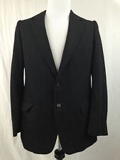 Jean-Paul Germain Sport Coat Blazer Jacket 40 R Black Pinstriped Wool 2 Button