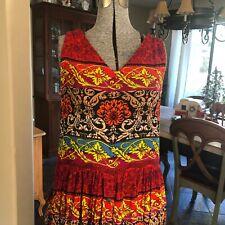 Bila India Gauze 100 % Rayon Dress Bohemian Festive Size M