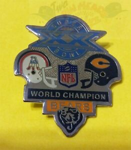 CHICAGO BEARS NFL SUPER BOWL XX (20) CHAMPIONS VINTAGE COLLECTOR PIN