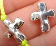 40pcs tibetan silver charm cross spacer Charms spacer beads  JA3564