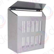 Sterling Letter Box GABBIA D'ACCIAIO PORTA POST mail Catcher cane di Sicurezza Argento
