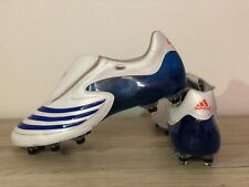 Adidas F50 TUNİT Fussballschuhe Gr.42 2/3 **RARİTAT** WEİSS / BLAU RAR