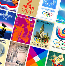 OLYMPIC GAMES CLASSIC VINTAGE POSTERS - A4 A3 A2 HD Prints - Summer / Winter