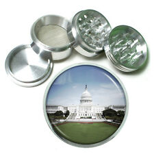 "Washington D.C. D4 Aluminum Herb Grinder 2.5"" 63mm 4 Piece Landmarks"
