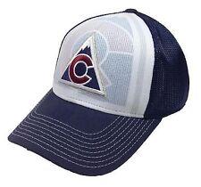 Colorado Avalanche Reebok NHL Trucker Mesh FlexFit Structured Hat Cap L/XL
