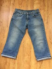 Lucky Brand Lt Wash Women's Cropped Easy Rider Crop Button Fly Jeans Sz 6/28