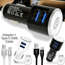 Dual USB 3.1A Fast Car Charge Type-C Cable for Samsung Galaxy S9 S9 Plus Note 9