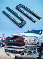 19-20 RAM 2500 3500 4500 FRONT GRILLE TRIM KIT Fit For 6NB35TZZAB Gloss Black