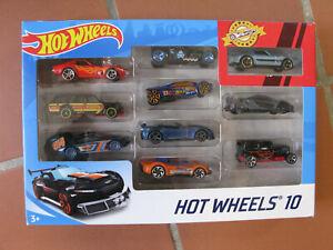 Mattel Hot Wheels Coffret Pack 10 voitures avec 1 voiture exclusive 2019
